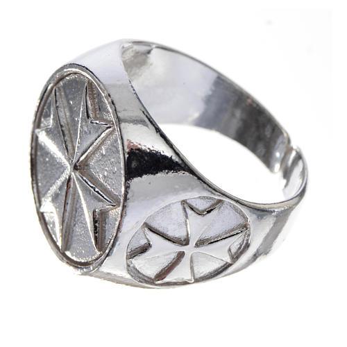 Anel para bispo prata 925 cruz de Malta 2