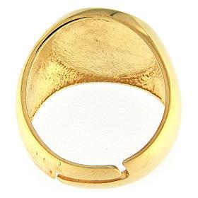 Bishop's ring, golden 925 silver with Jerusalem cross s3