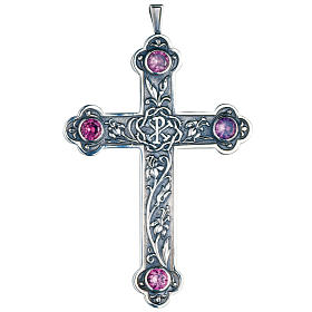 Pectoral cross in sterling silver with Chi-rho by Molina s1