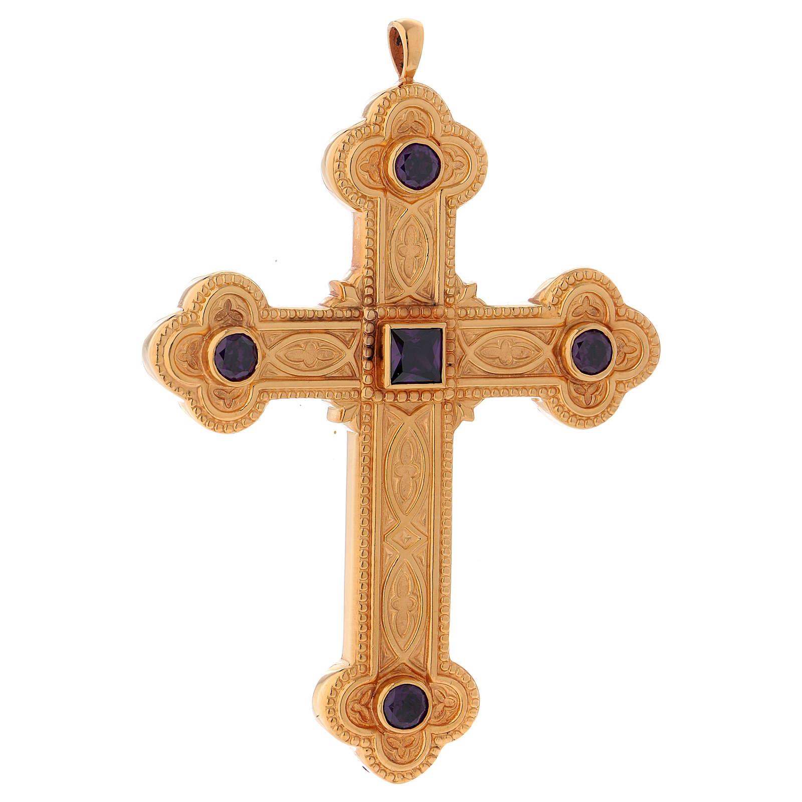 Croce per vescovi Molina argento 925 3