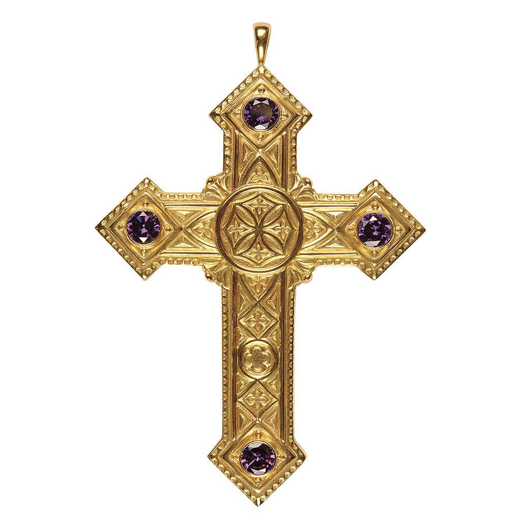 Croce per vescovi Molina argento 925 dorato 3