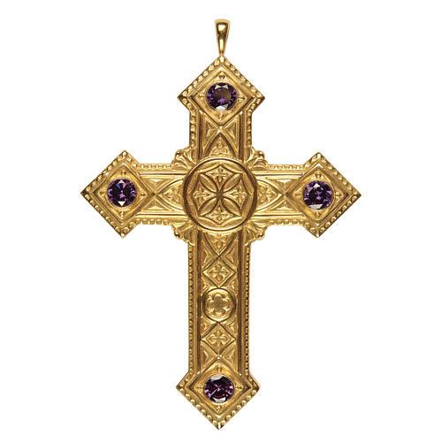 Croce per vescovi Molina argento 925 dorato 1