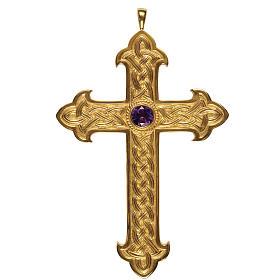 Croce vescovi Molina argento 925 dorato s1