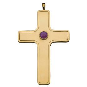 Croix pectorale simple Molina argent 925 doré s1