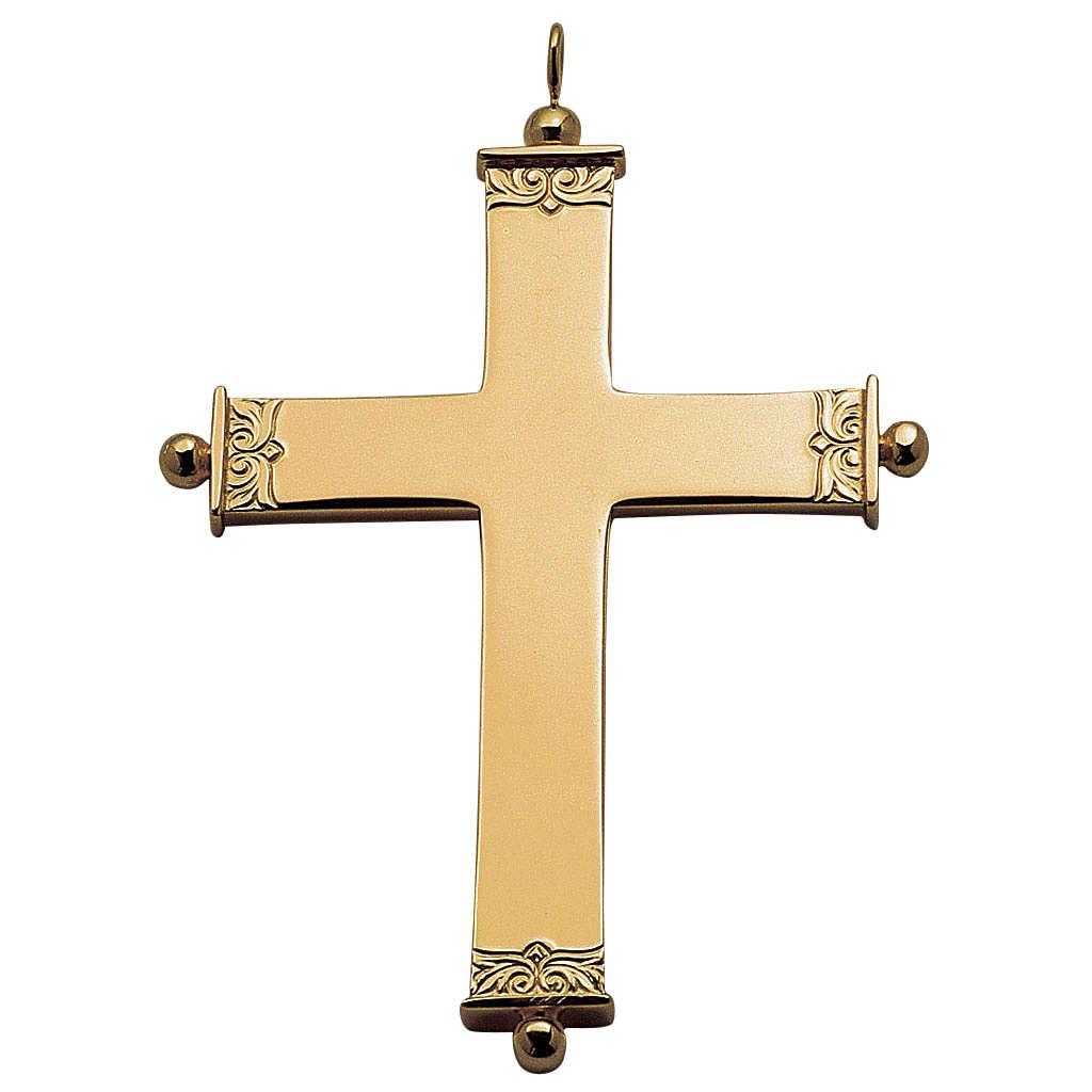 Cruz pectoral en plata de ley dorada, Molina 3