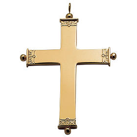 Molina cross for bishops in golden sterling silver s1