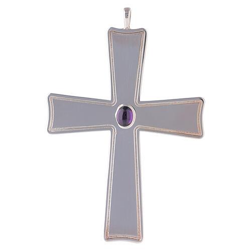 Cruz pectoral hecha de plata de ley, Molina 1