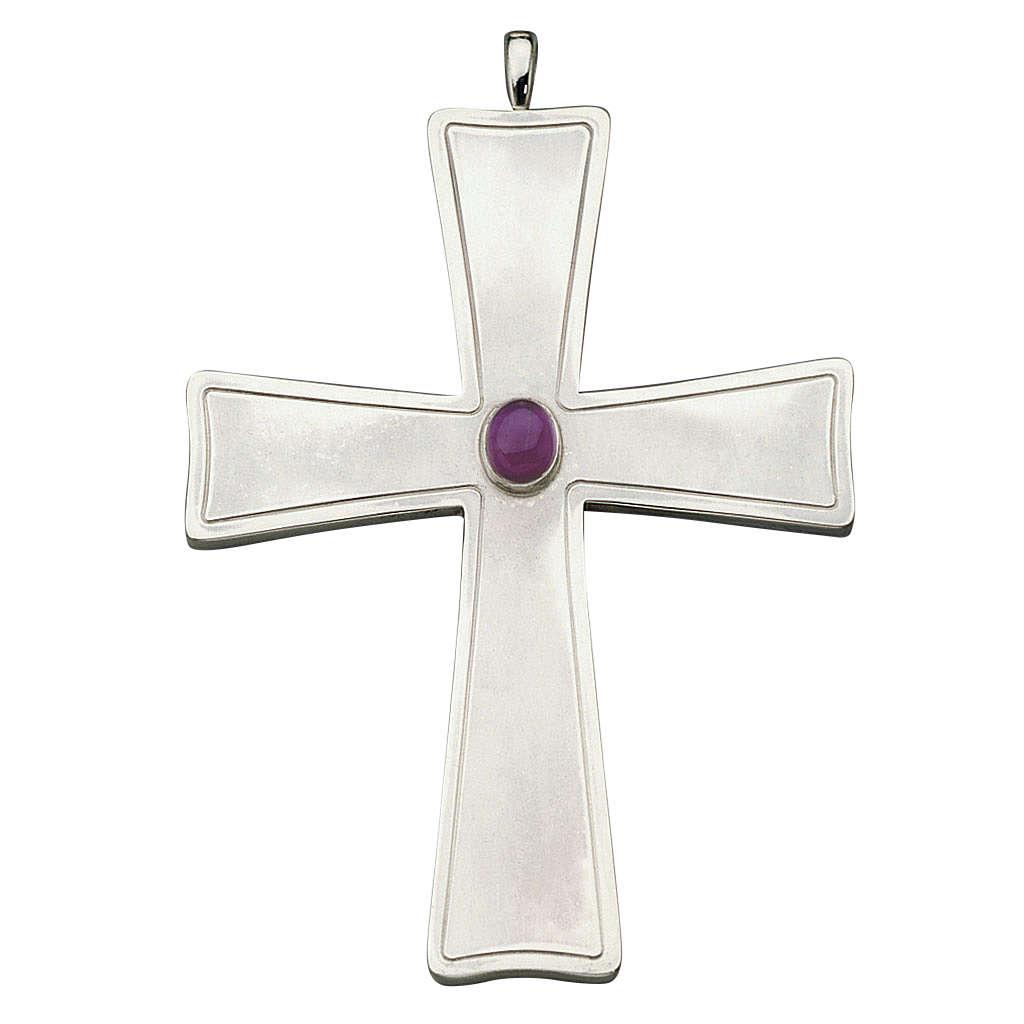 Croix pour évêque évasée Molina argent 925 3