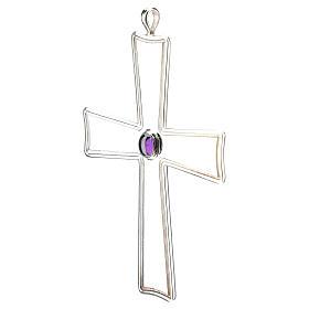 Croix pour évêque évasée Molina argent 925 s3