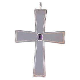 Croix pour évêque évasée Molina argent 925 s1