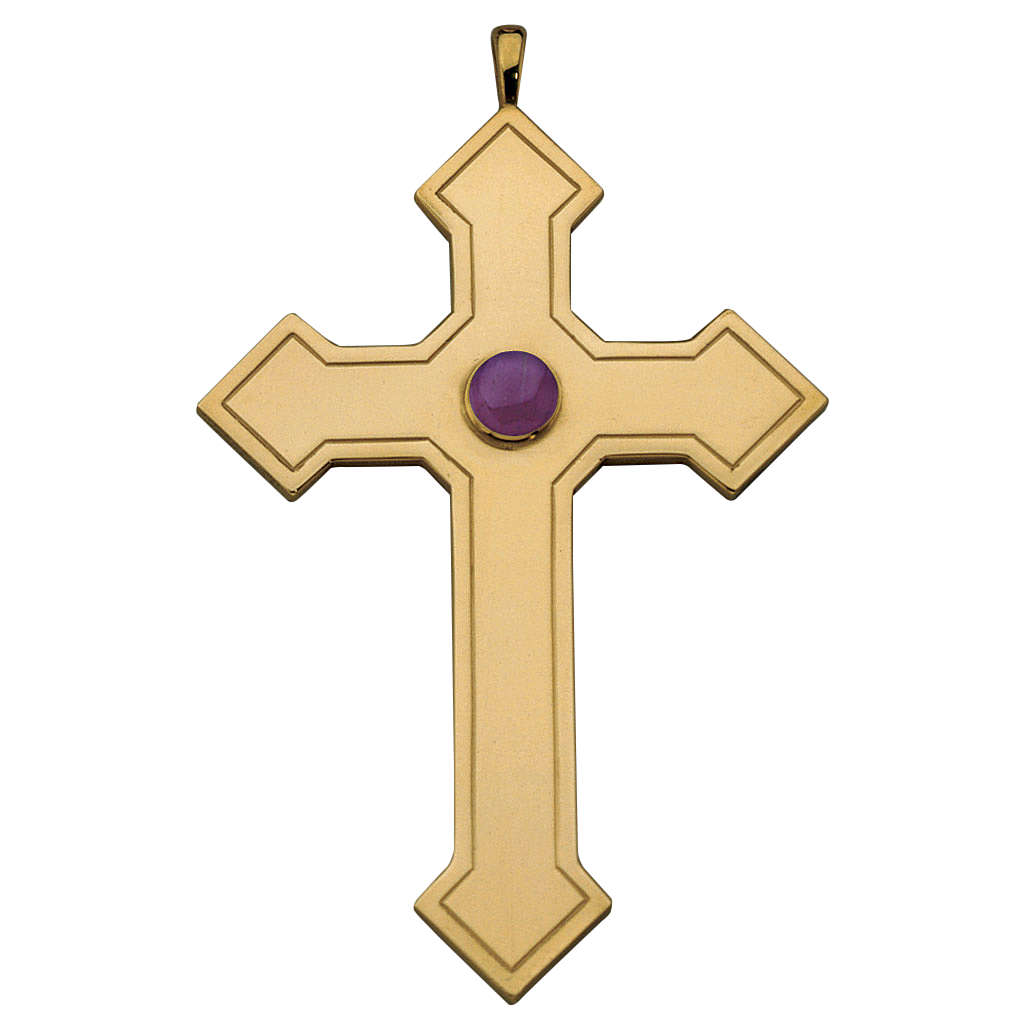 Molina pointed cross for bishops in sterling silver 3