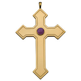 Molina pointed cross for bishops in sterling silver s1