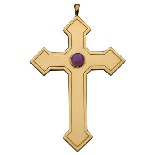 Molina pointed cross for bishops in sterling silver 1