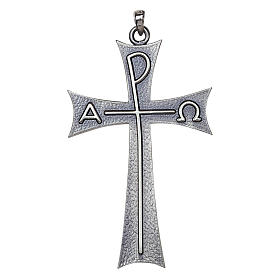 Molina cross with Alpha Omega in sterling silver s1