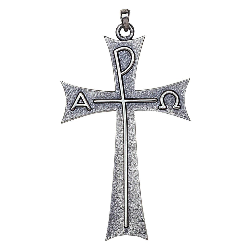Cruz pectoral Alfa Omega en plata de ley, Molina 3