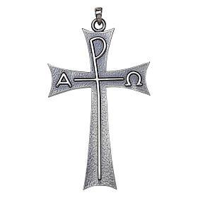 Cruz pectoral Alfa Omega en plata de ley, Molina s1