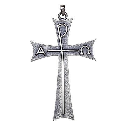 Cruz pectoral Alfa Omega en plata de ley, Molina 1