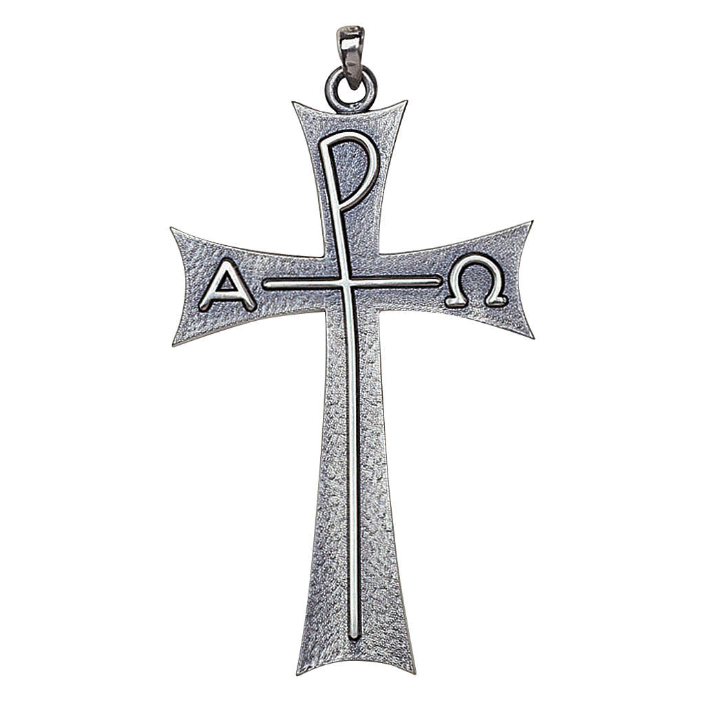 Molina cross with Alpha Omega in sterling silver 3