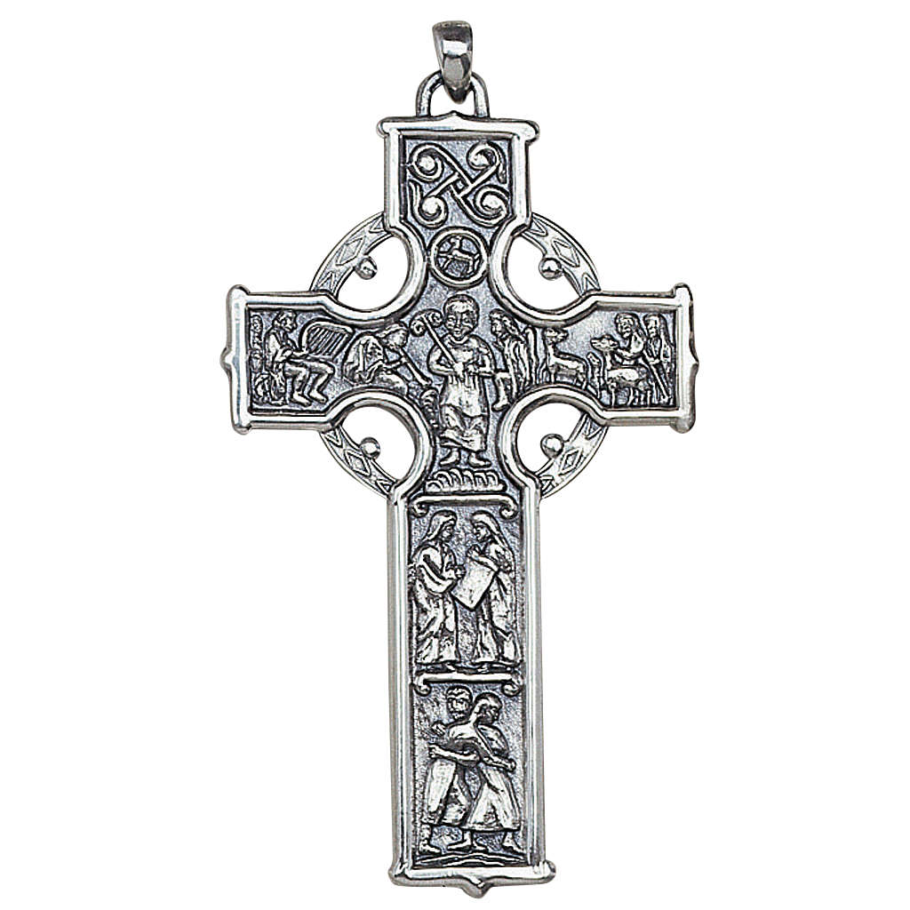 Molina cross for the neck, in sterling silver 3