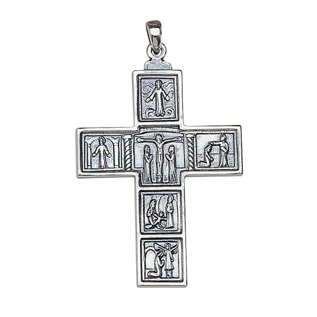 Molina cross for the neck, 6.3x4.5cm in sterling silver 3