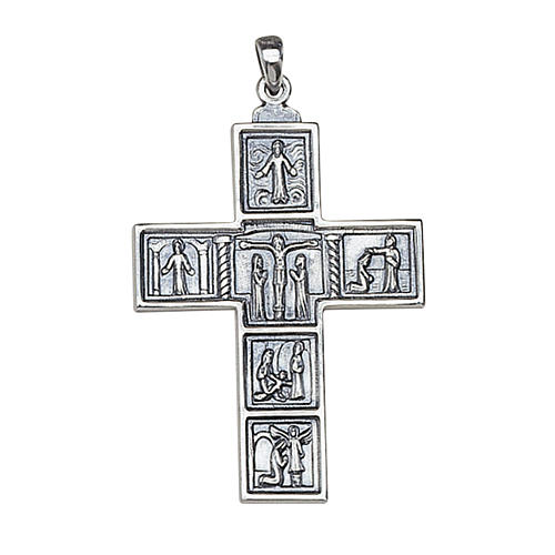 Molina cross for the neck, 6.3x4.5cm in sterling silver 1