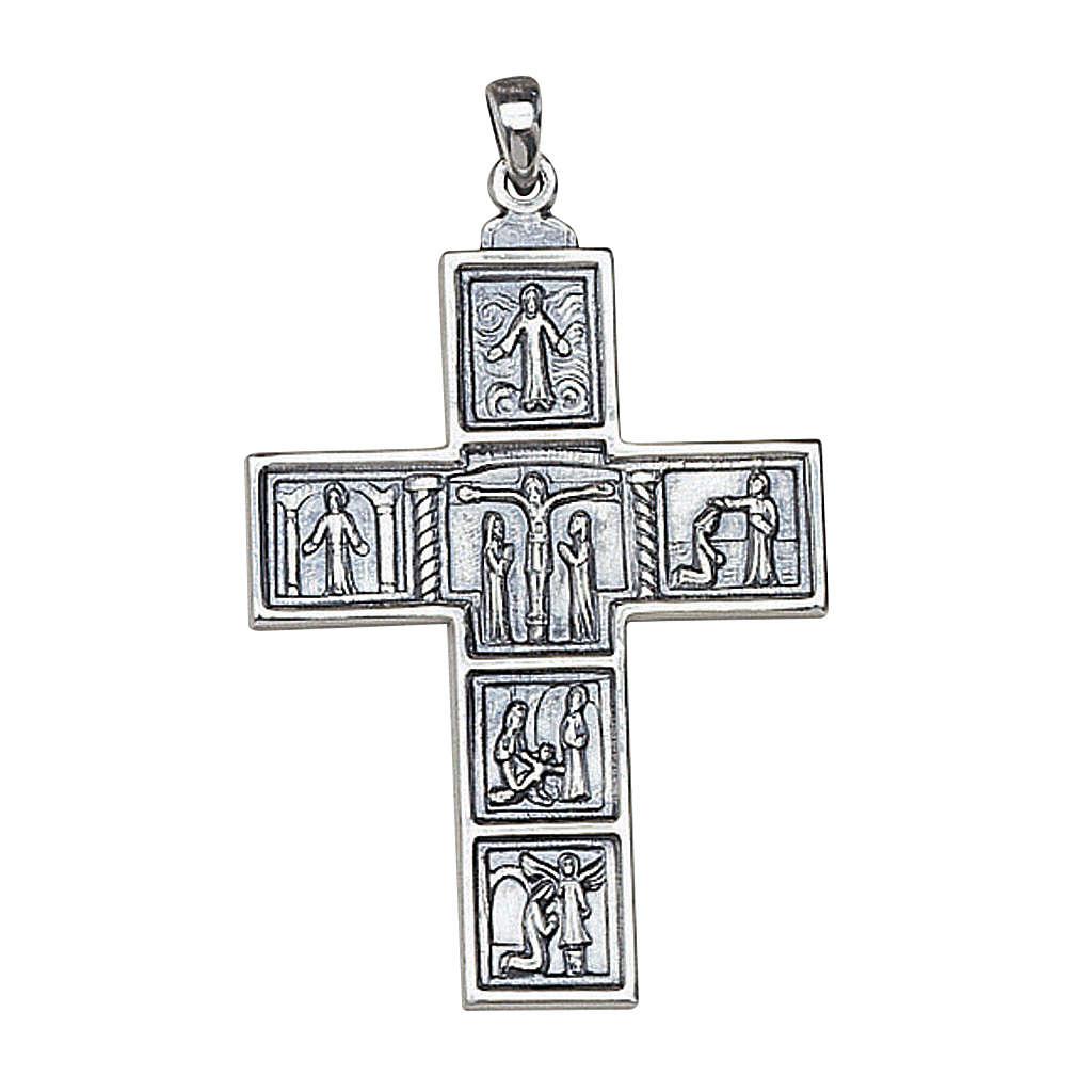 Croix romaine décorée pendentif pour évêque 5x3,5 Molina argent 3
