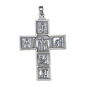 Croix romaine décorée pendentif pour évêque 5x3,5 Molina argent s1