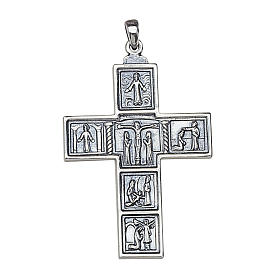 Molina cross for the neck, 5x3.5cm in sterling silver s1