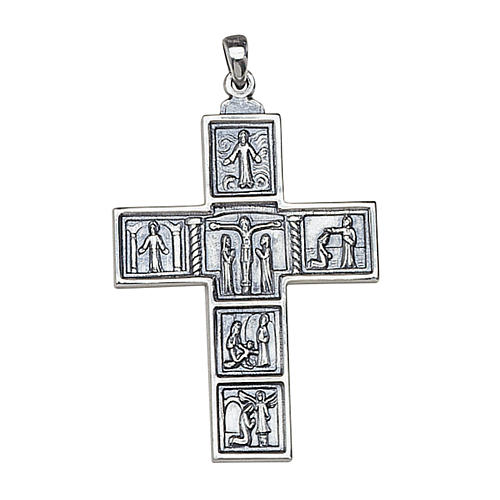 Molina cross for the neck, 5x3.5cm in sterling silver 1