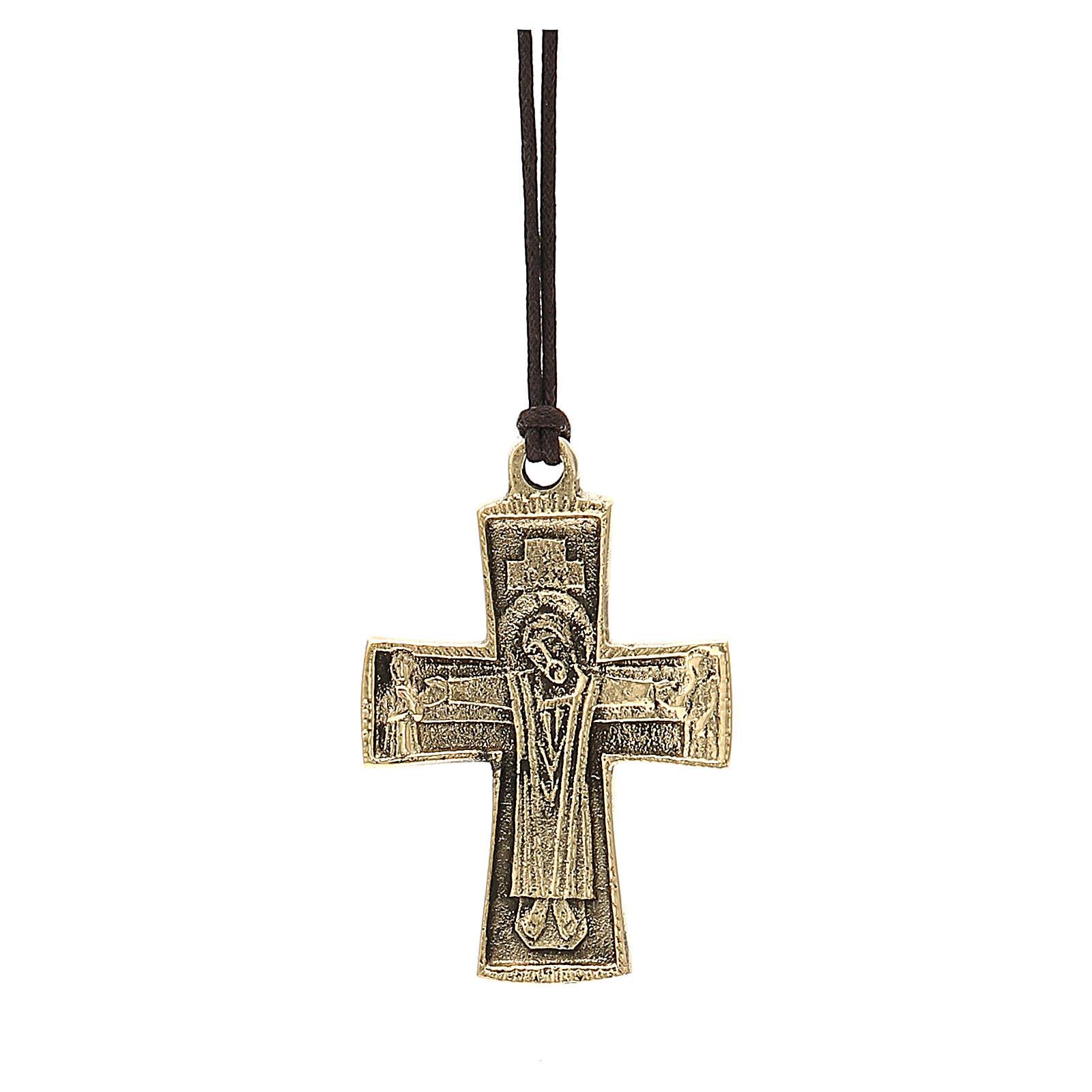 Croix épiscopale Jésus Grand Prêtre Moines Bethléem 7x4,5cm 3