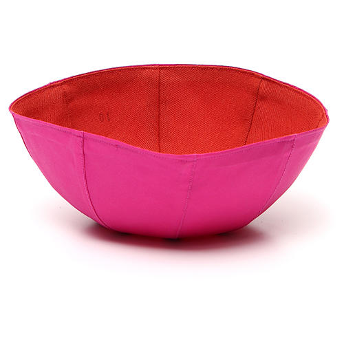 Piuska z czystego jedwabiu kolor purpurowy 2