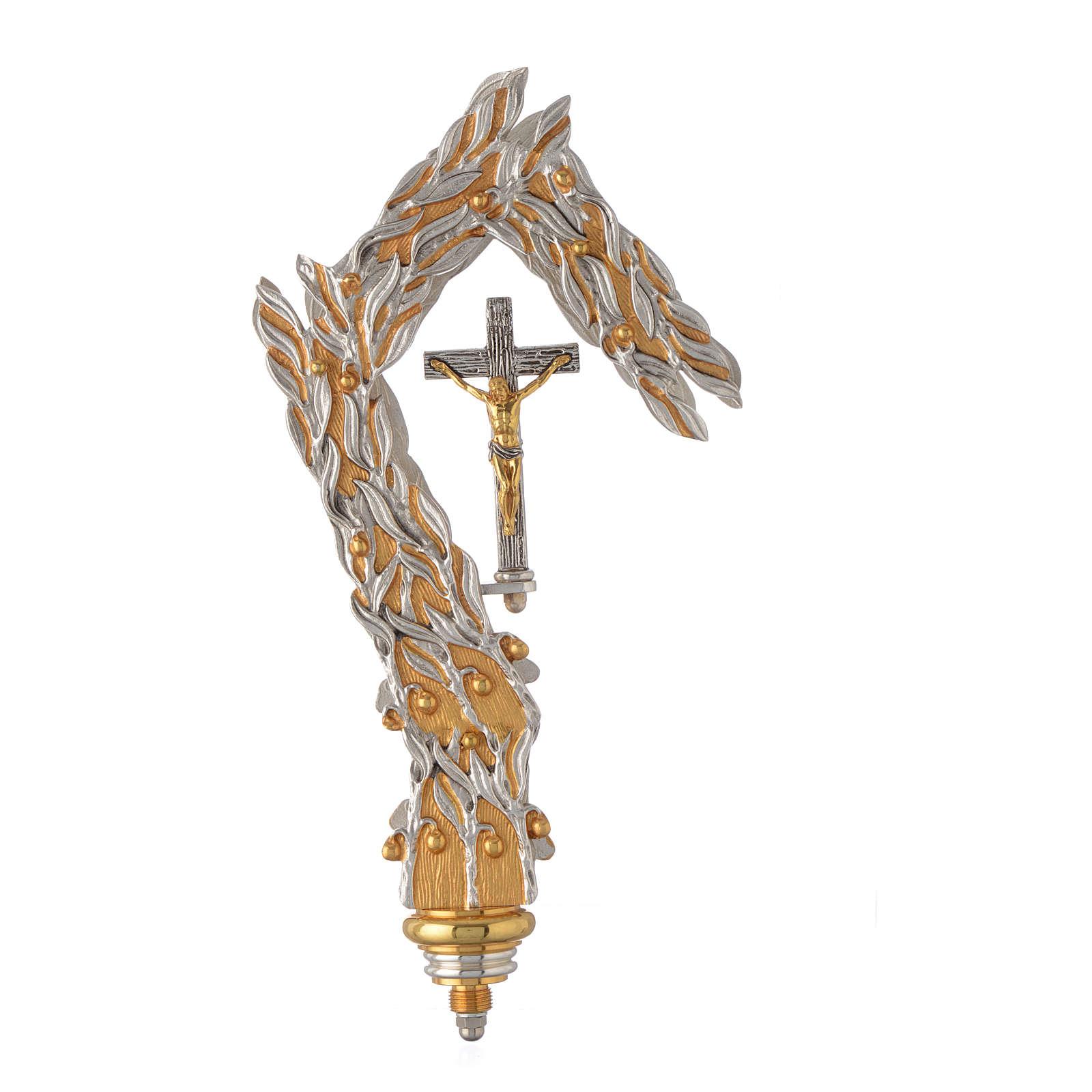 Báculo pastoral olivo dorado bicolor 3