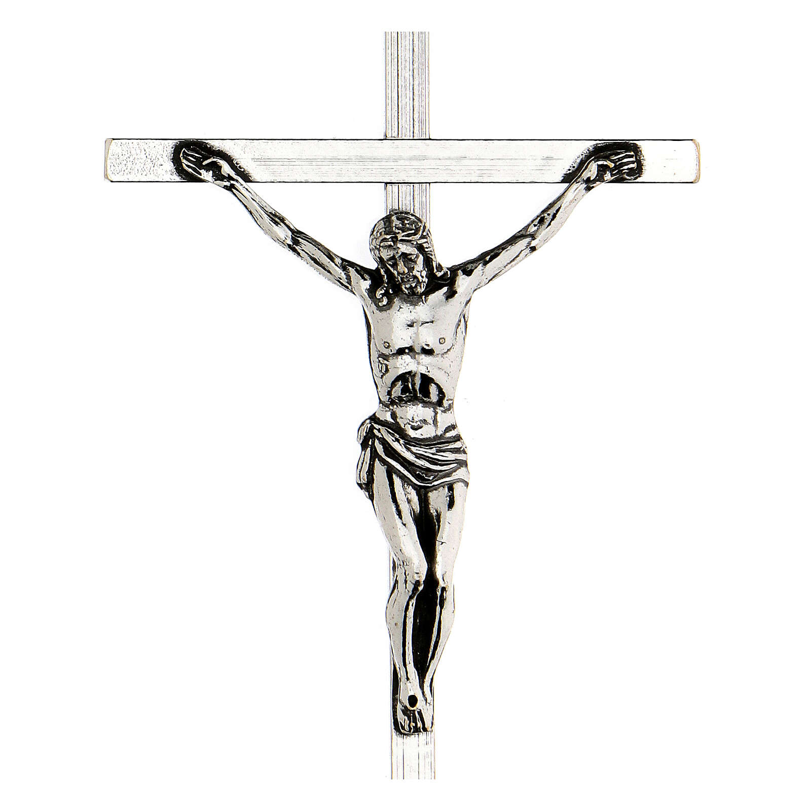 Pectoral cross silver-plated 10x6,5cm 3