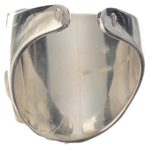 Bishop ring silver 925 and amethyst Jesus 4