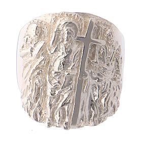 Bishop ring silver 925 Jesus s2