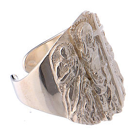 Bishop ring silver 925 Jesus s4