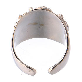 Bishop ring silver 925 Jesus s5