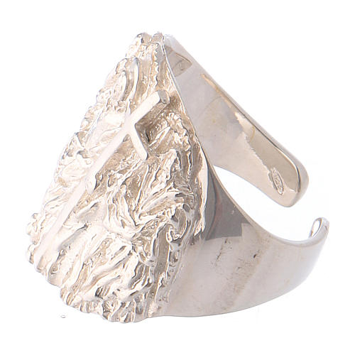 Bishop ring silver 925 Jesus 3