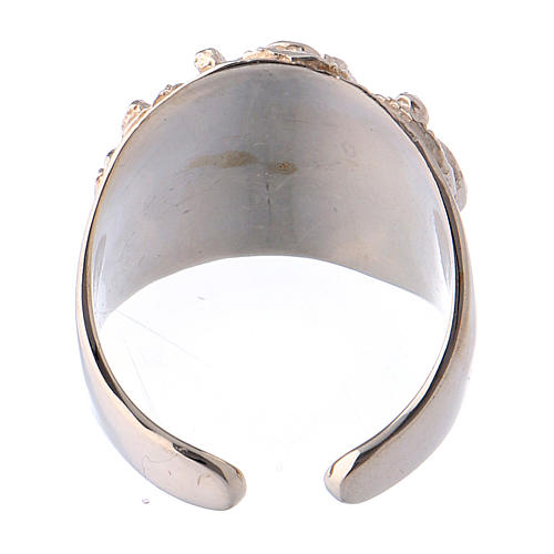 Bishop ring silver 925 Jesus 5