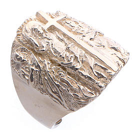 Anillo obispal plata 925 Jesús s1
