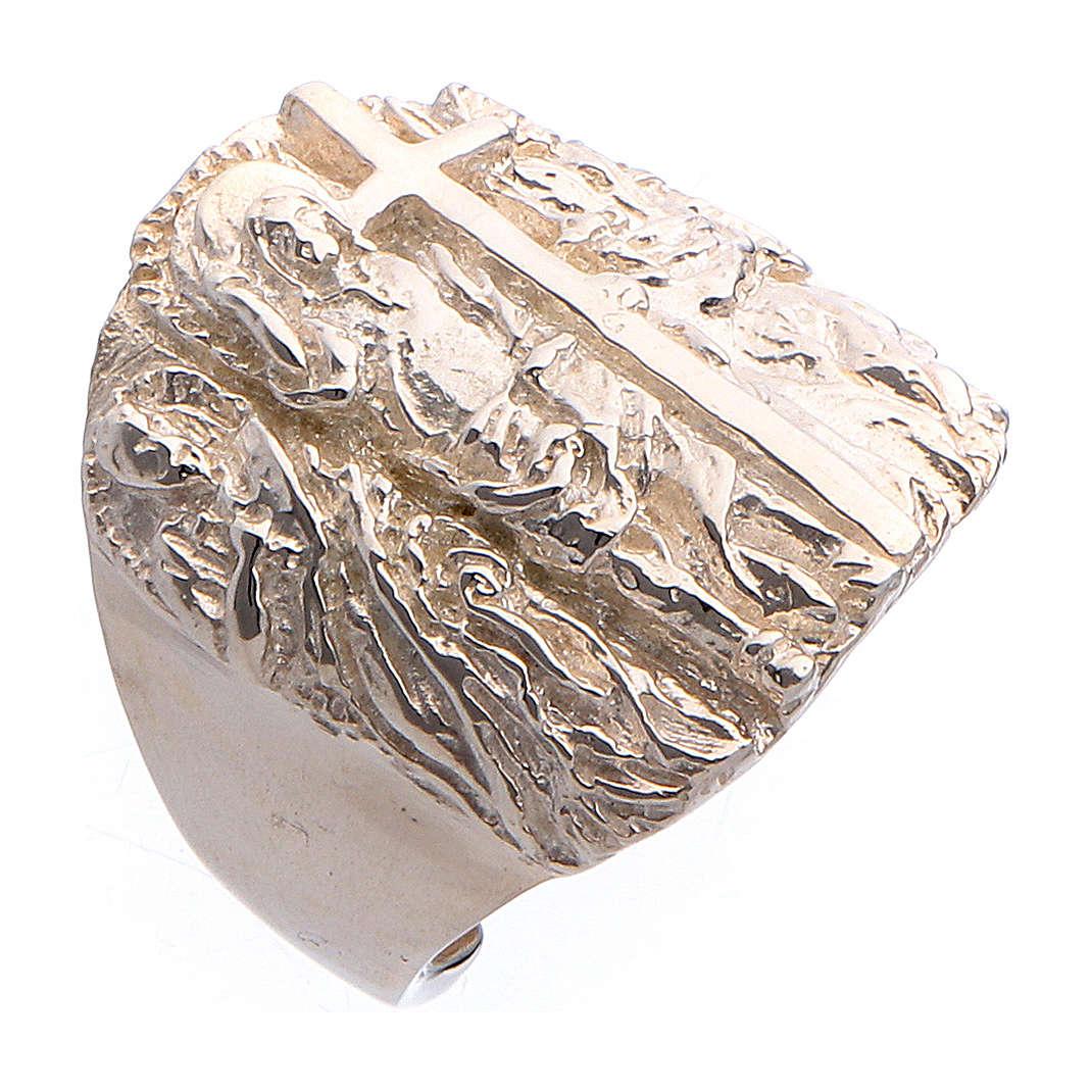 Anello vescovile argento 925 Gesù SS. Pietro e Paolo 3