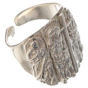 Anello vescovile argento 925 Gesù s2