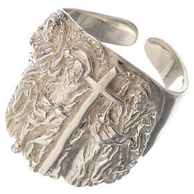 Anello vescovile argento 925 Gesù s3