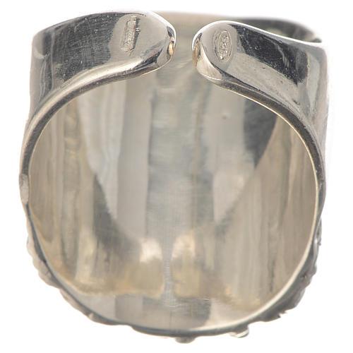 Anello vescovile argento 925 Gesù 4