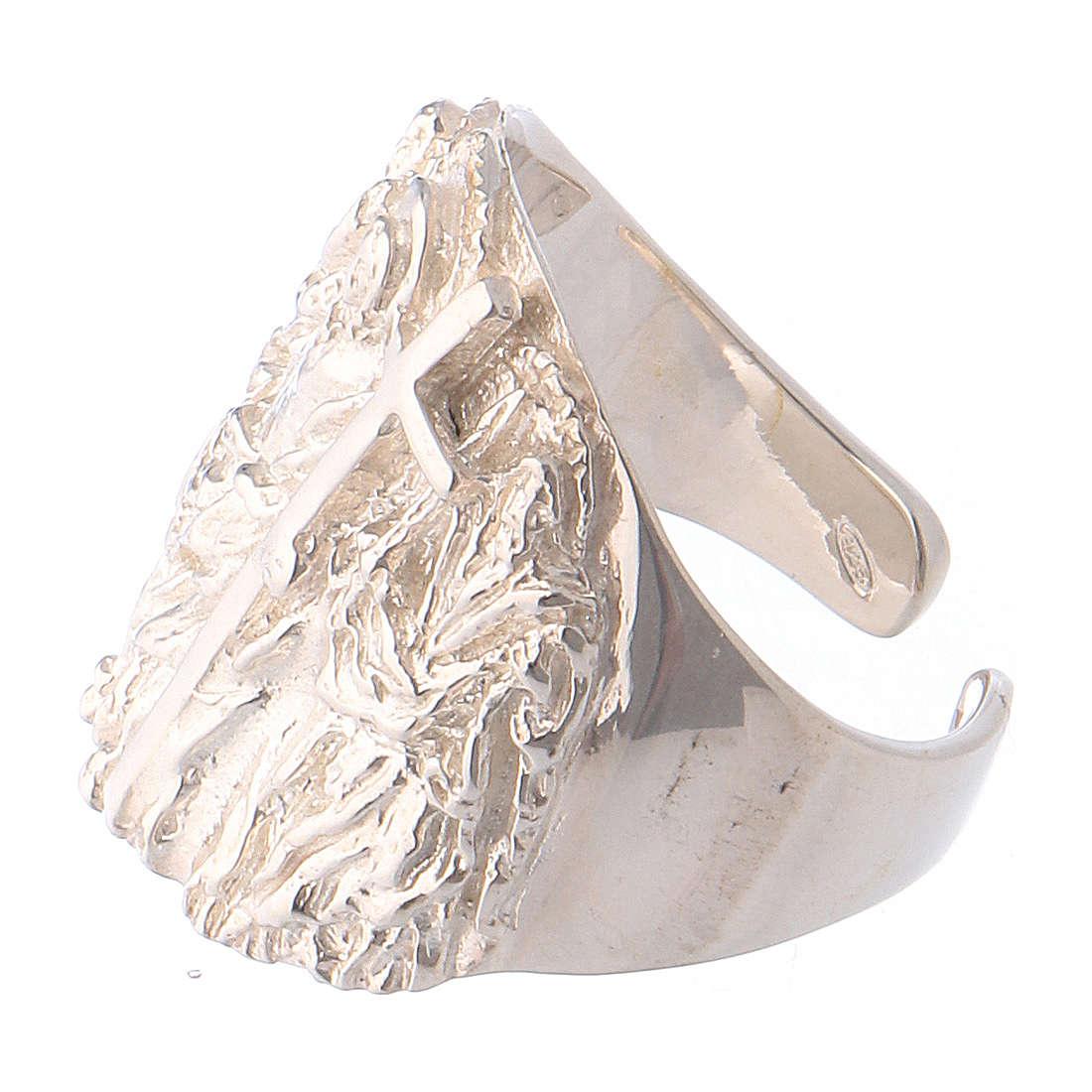 Bishop ring silver 925 Jesus 3
