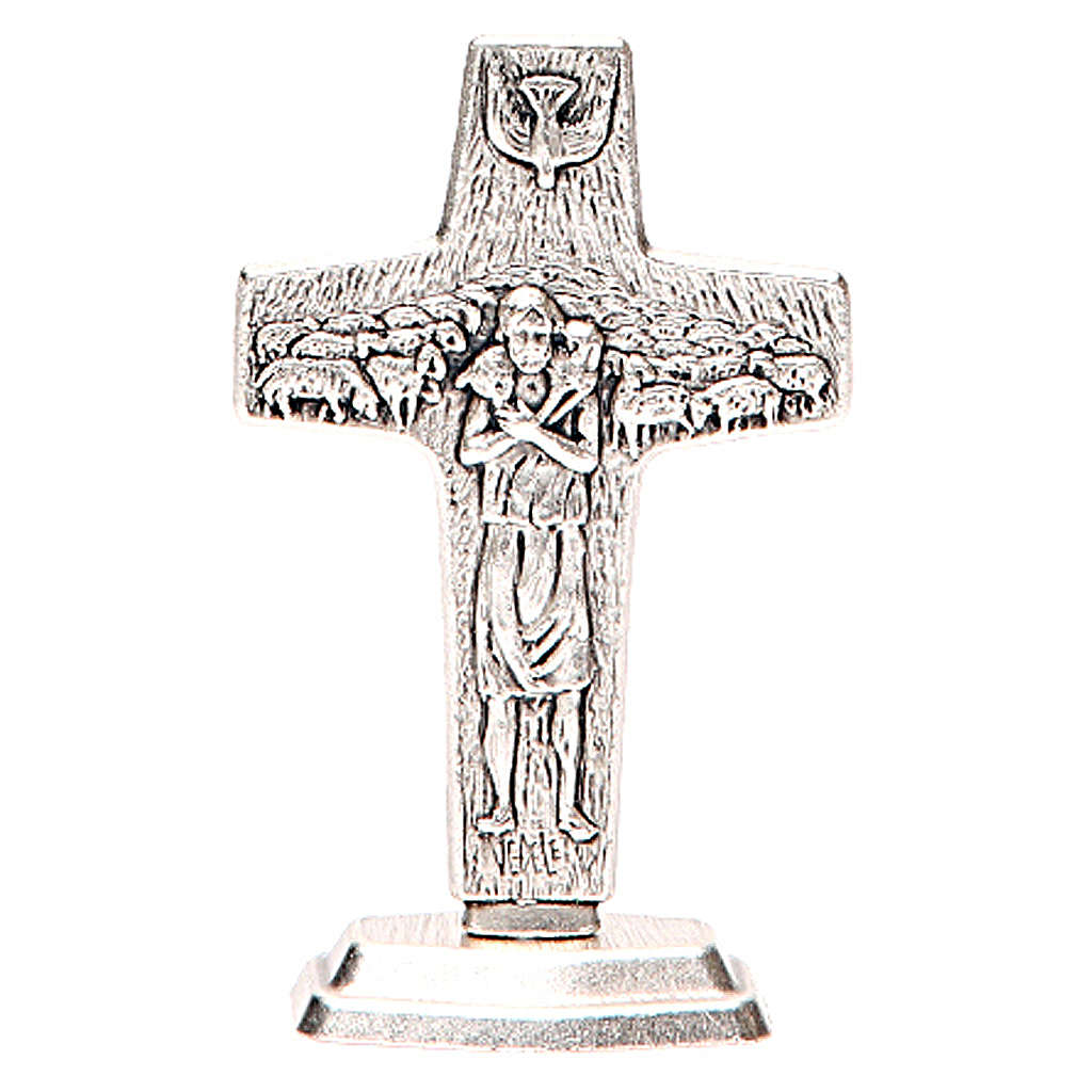 Cruz Buen Pastor Papa Francisco con Base 4