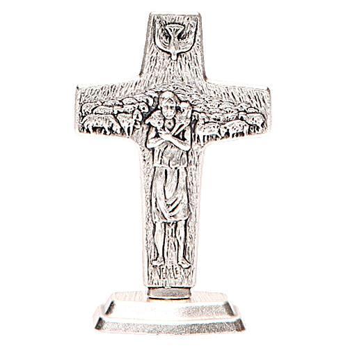 Croix Bon Pasteur de Pape François avec base 3