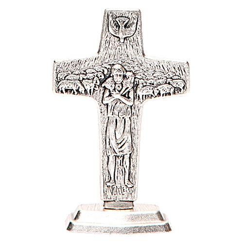 Croce con base Buon pastore di Papa Francesco 1