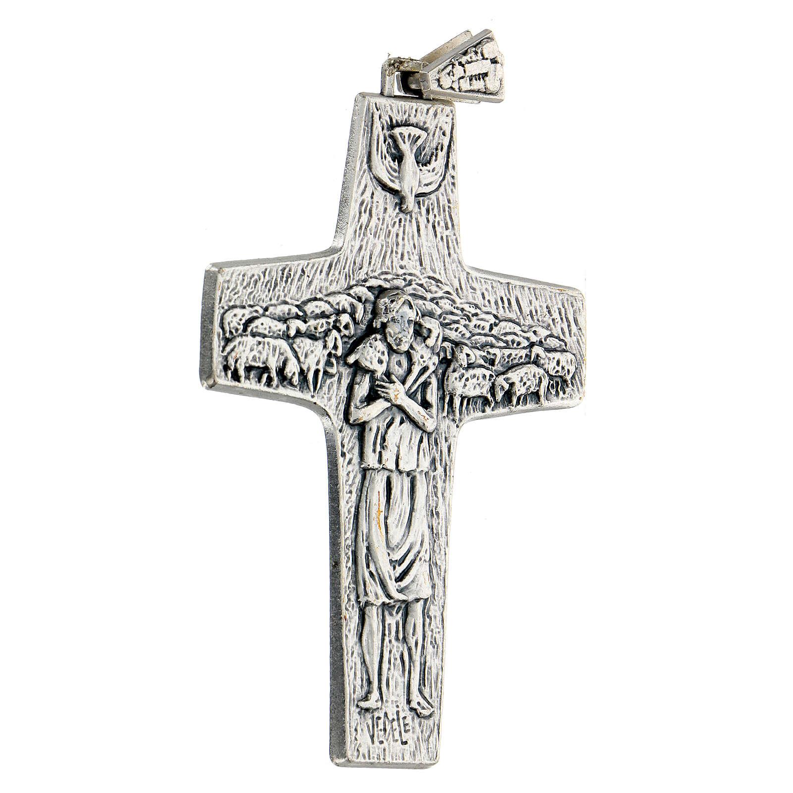 Pectoral cross Good Shepherd metal 10x7cm 3