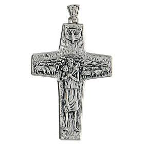 Pectoral cross Good Shepherd metal 10x7cm s1